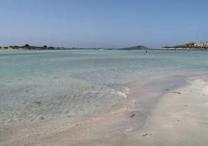 Lekker strand og og fint vann (med fisk)