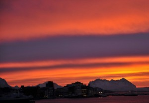 Solnedgang i Bodø